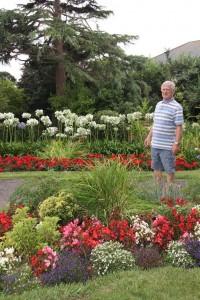 Mr Arthur Anderson in the garden of Aldborough Court