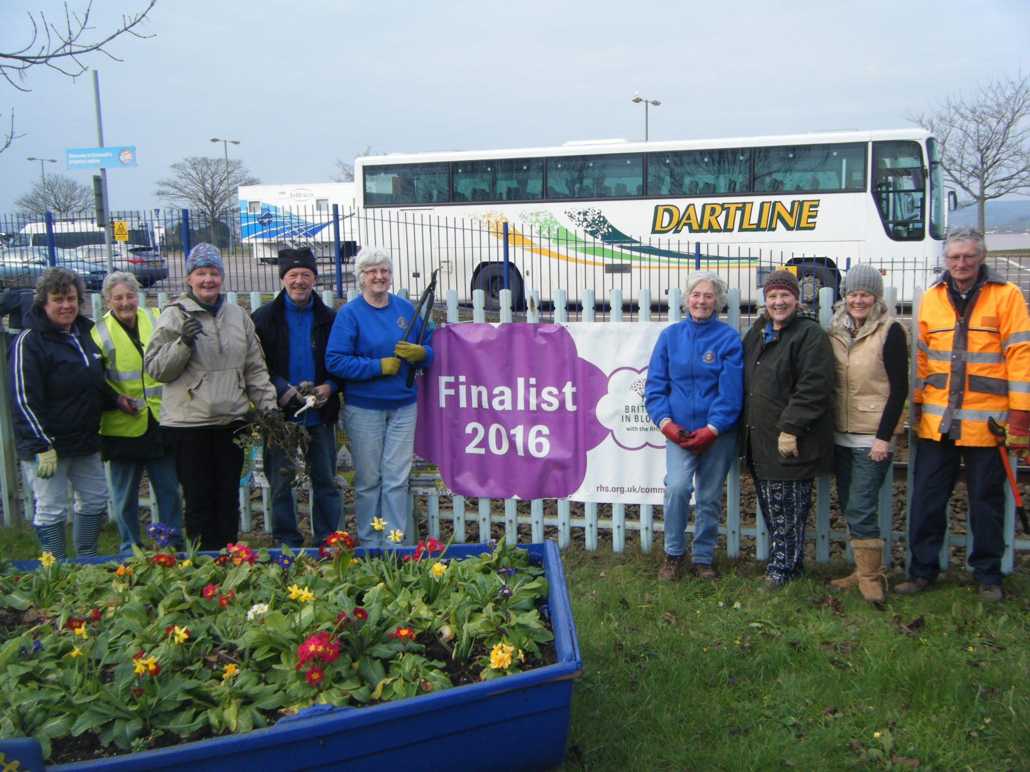Bloom members cut brambles on Marine Way