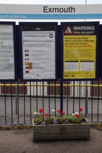 Troughs on station platform