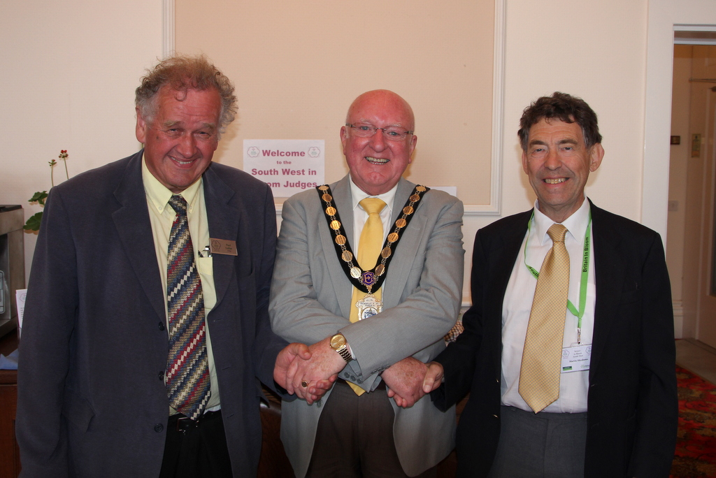 Judges with the Mayor Cllr Brian Cole