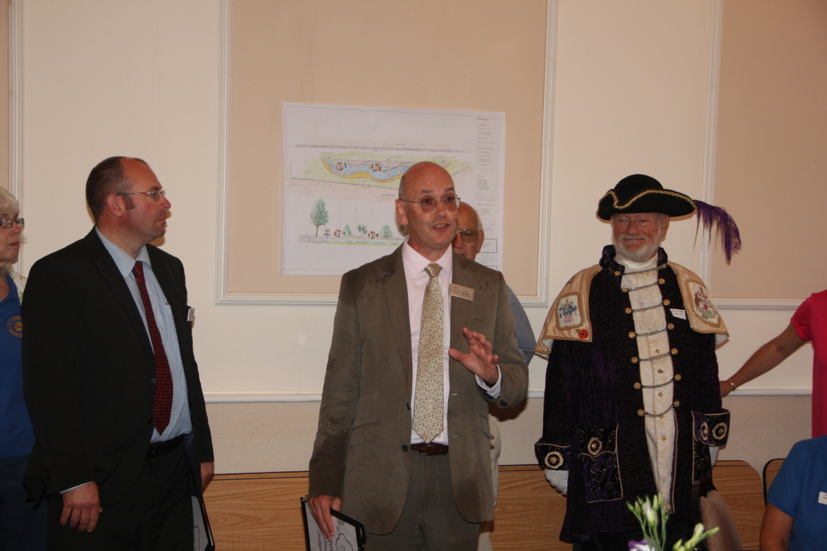Judges with the Town Crier at the lunch reception