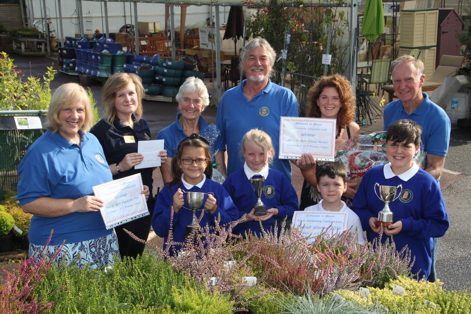 Littleham School receiving prize