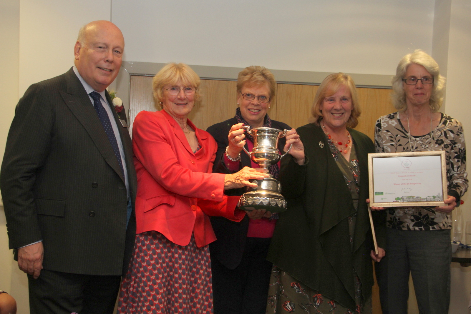 Receiving the Cup from Lord Fellowes