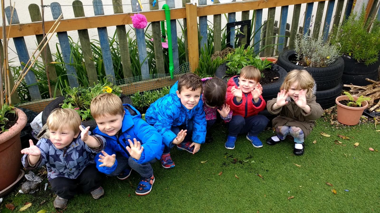Withycombe Raleigh Pre-school's keen gardeners